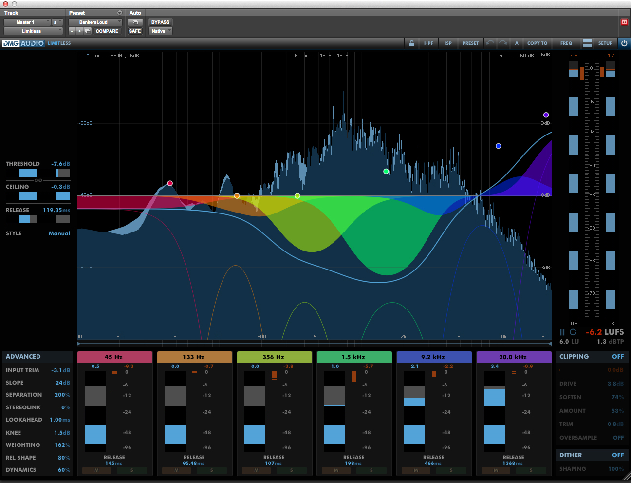 DMG Audio Limitless Mastering Limiter Plug-in