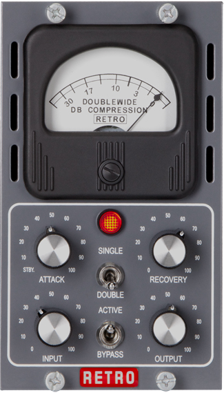 Retro Instruments' Single Channel Doublewide Tube Compressor
