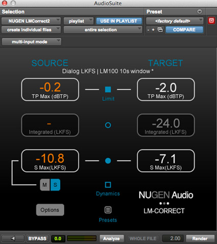 NUGEN Audio Loudness Toolkit 2 LM-Correct 2