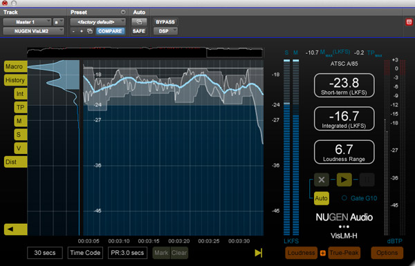 NUGEN Audio Loudness Toolkit 2 VisLM-H Loudness Meter