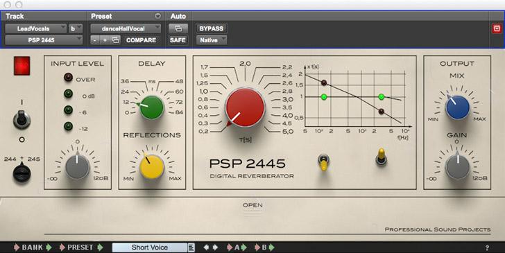 PSPaudioware PSP 2445 Reverb Plug-in