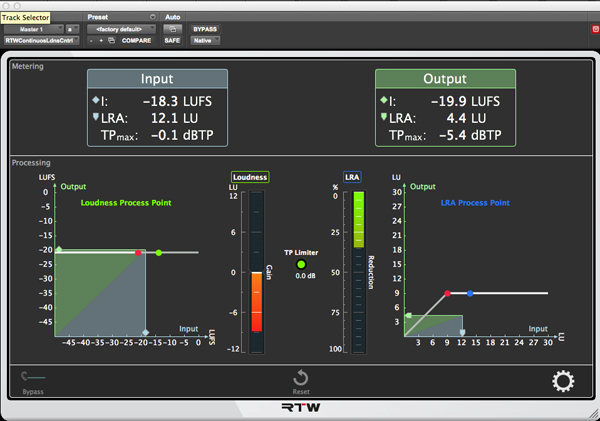 RTW Continuous Loudness Control
