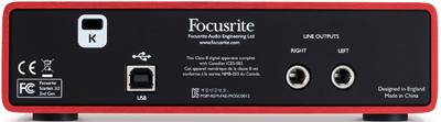 Focusrite 2nd Generation Scarlett 2i2 USB Interface