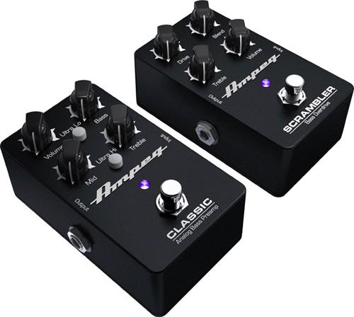 Ampeg Classic Analog Bass Preamp and Scrambler Bass Overdrive Bass Pedals