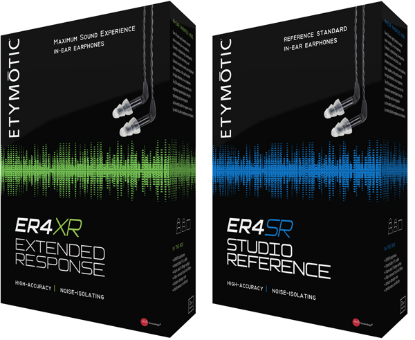 Etymotic Research Updated ER4XR and ER4SR In-Ear Earphones