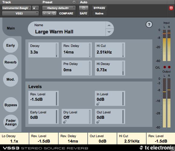 TC Electronic VSS3 Stereo Source Reverb