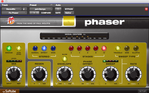 Softube Fix Phaser Plug-in