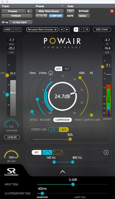 SoundRadix Powair Compressor Plug-in
